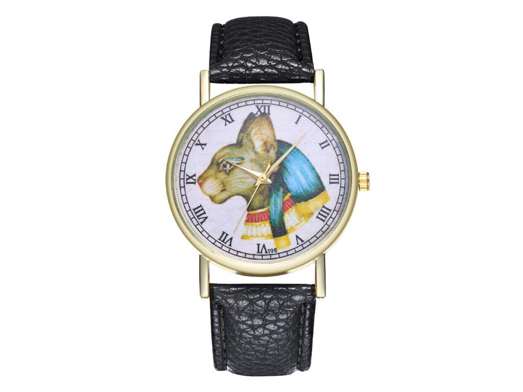 hodinky egyptská kočka