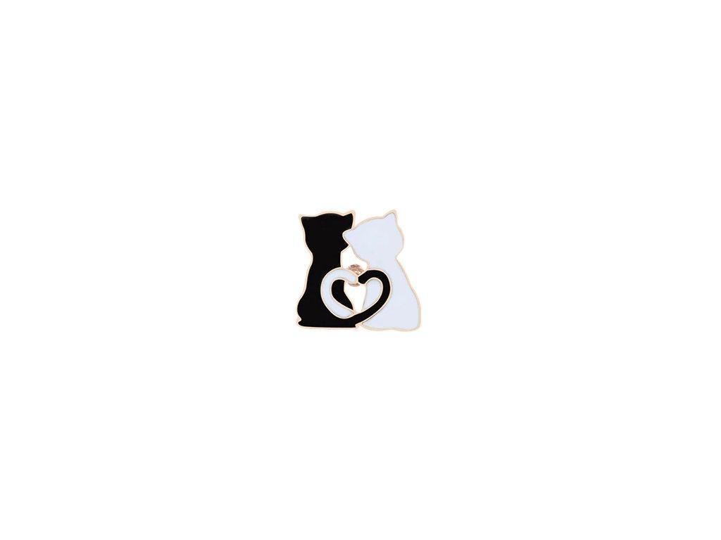 brož email dvě kočky černobílá