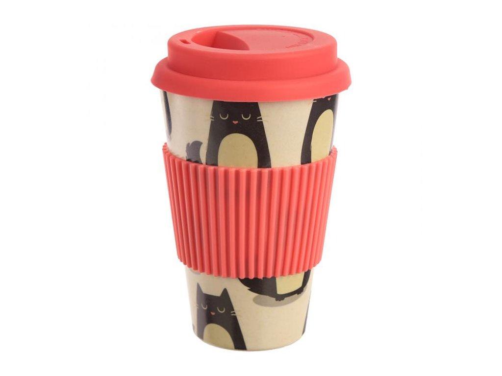 ekologický bambusový kelímek káva kočka 2
