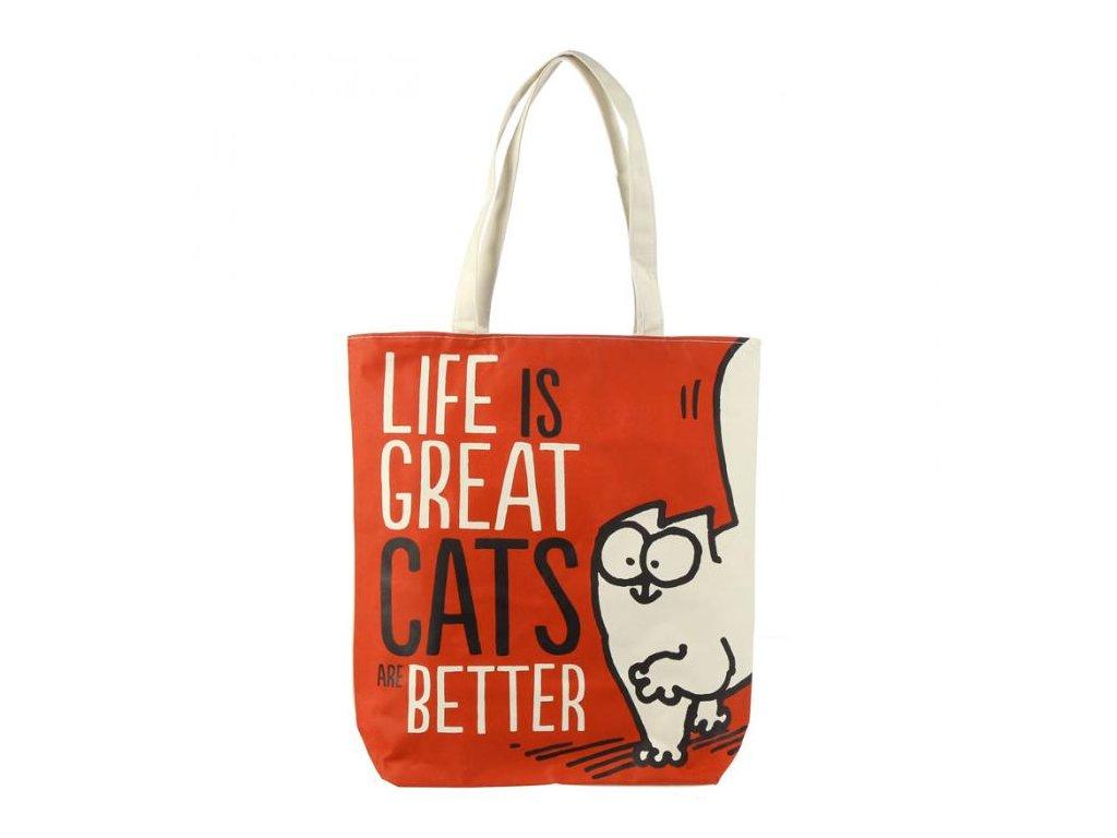 Látková taška kabelka kočka Simon's Cat