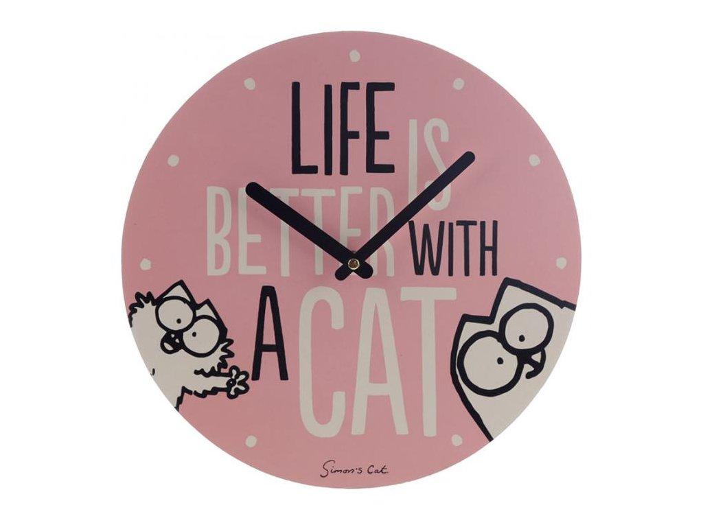 Nástěnné hodiny kočka Simon's Cat