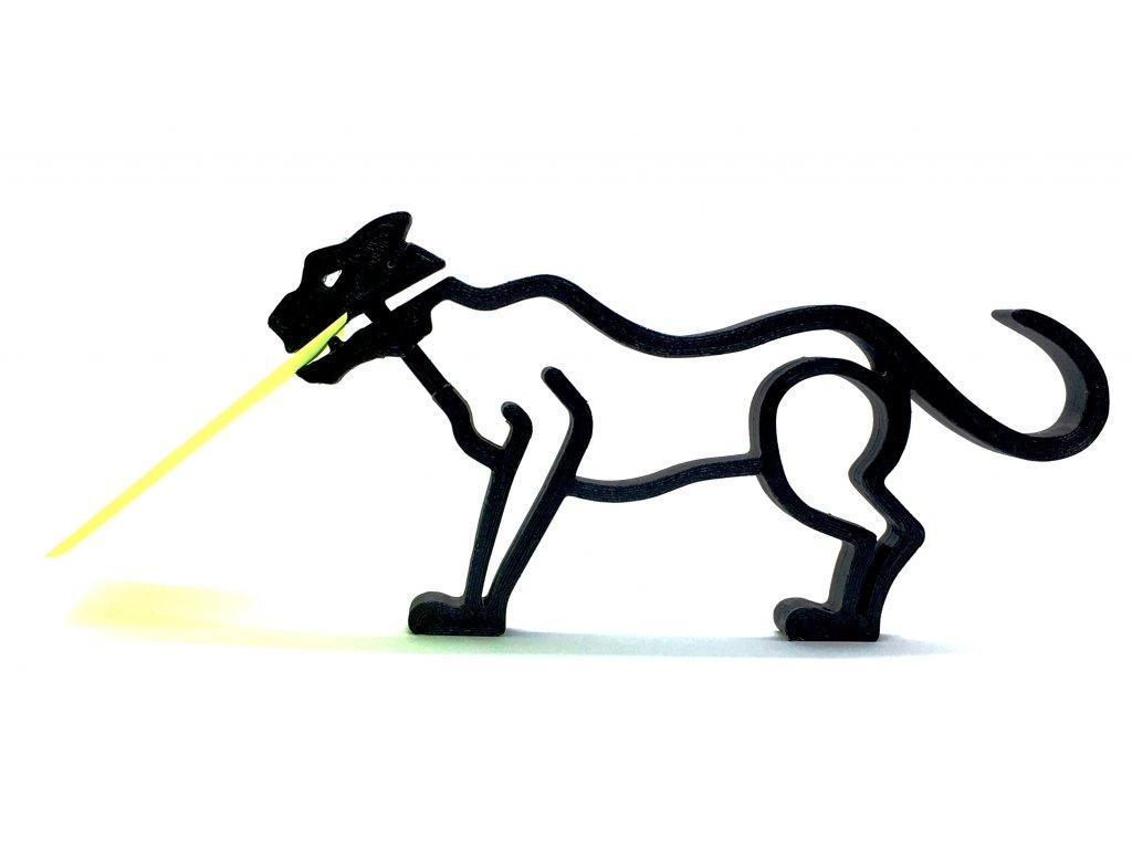 Stojánek na poznámky černá kočka