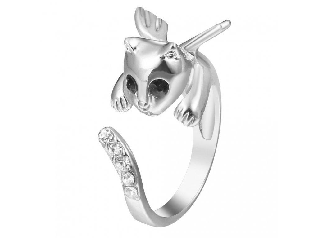prsten kočka anděl