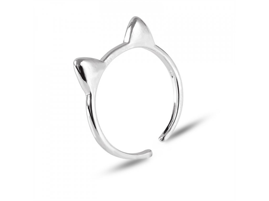 prsten kočka uši kočičí