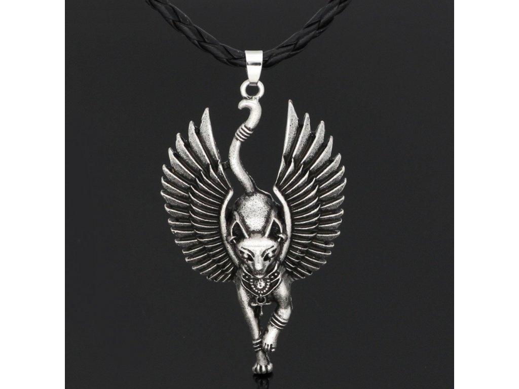 kočka egypt kočičí anděl přívěsek na krk
