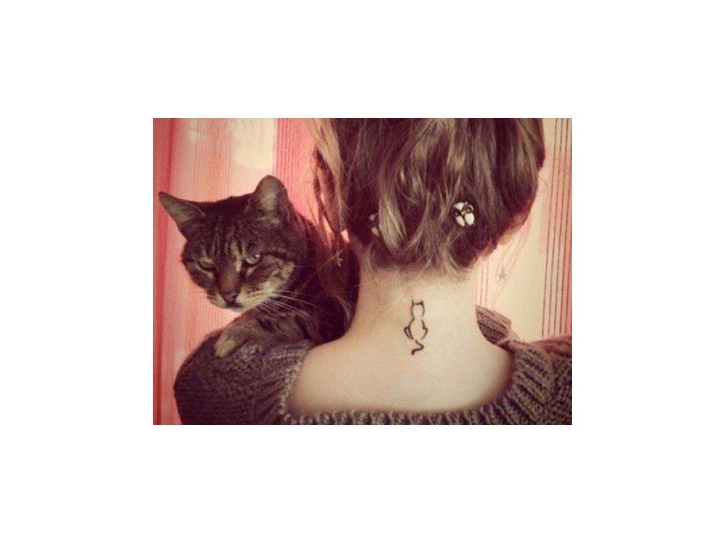 Dočasné tetování kočka I