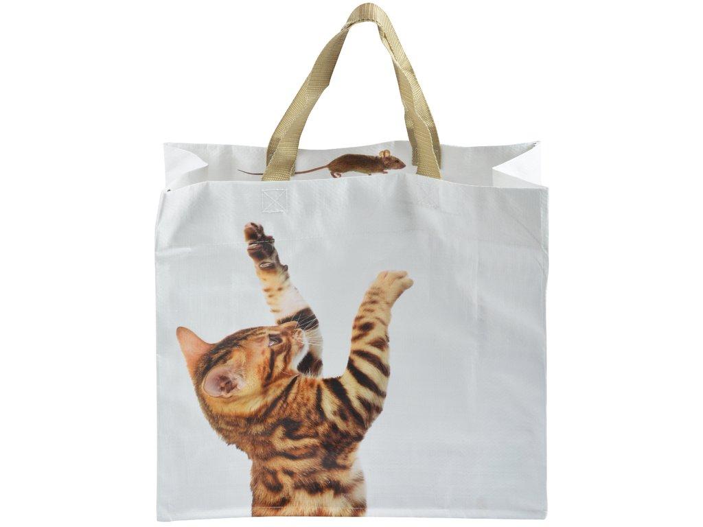 nákupní taška zrzavá kočka a myš