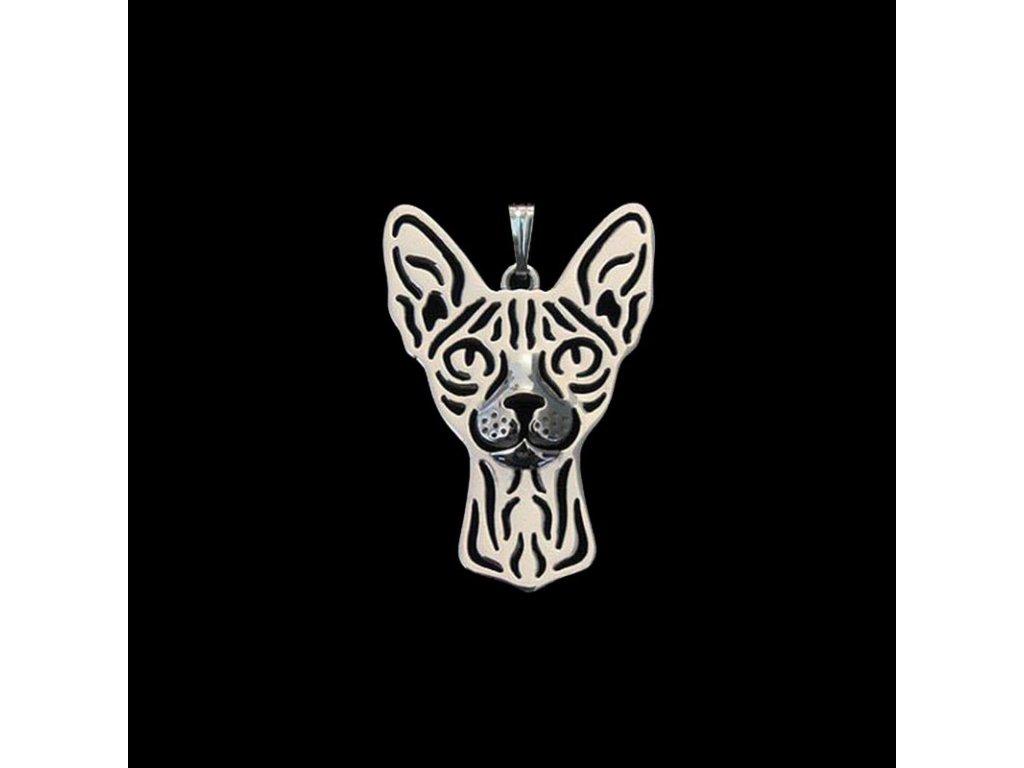 náhrdelník přívěsek kočka sfinx sphynx 4
