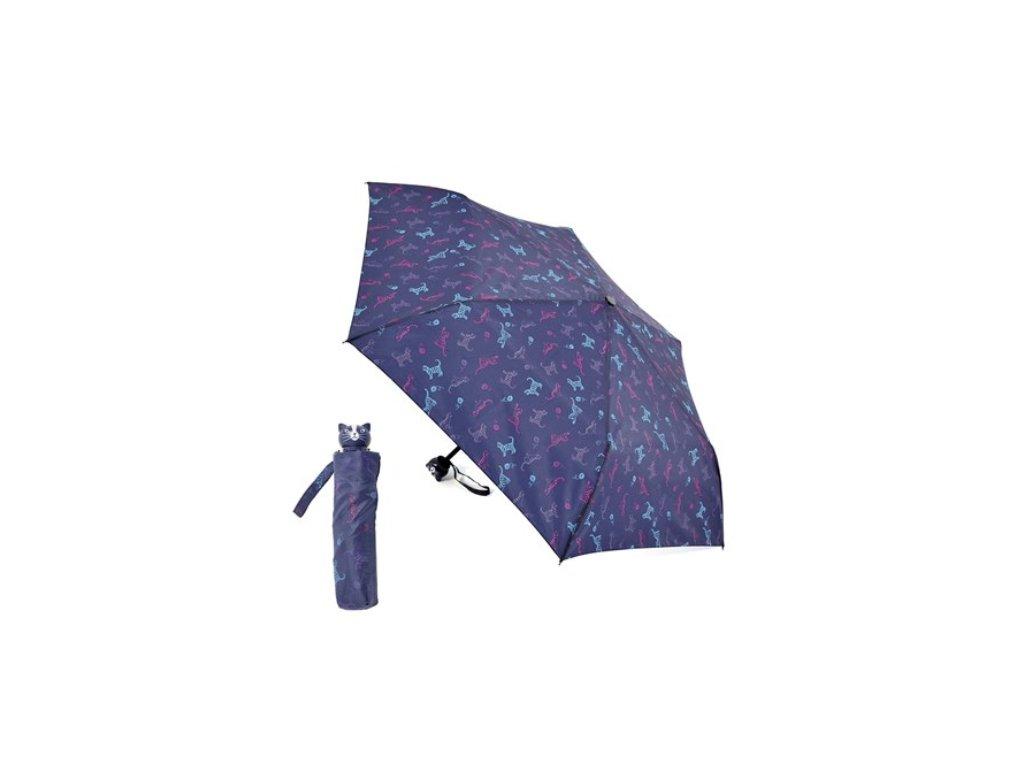 deštník skládací malý do kabelky kočka kočičí