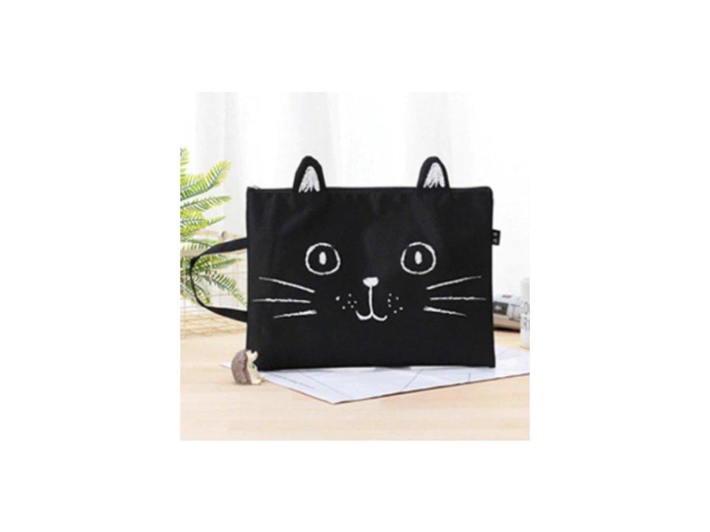 kabelka penál poudro kočka kočičí