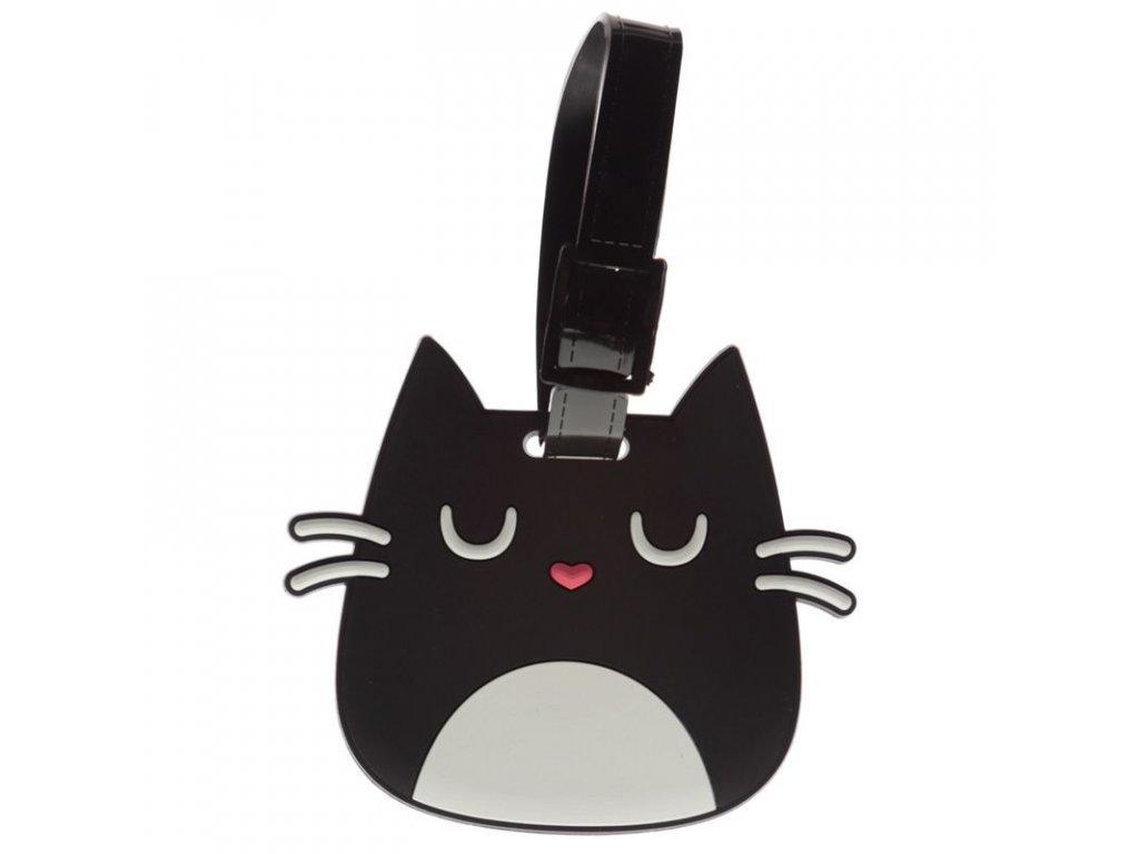 visačka na zavazadlo kočka kočičí s kočkou