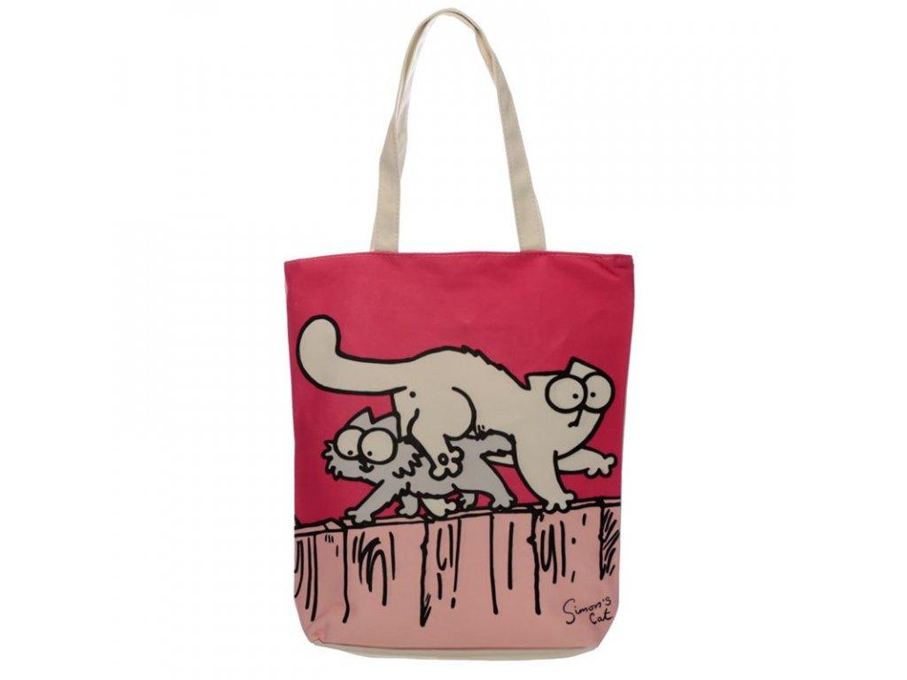 kabelka taška kočka simons cat růžová