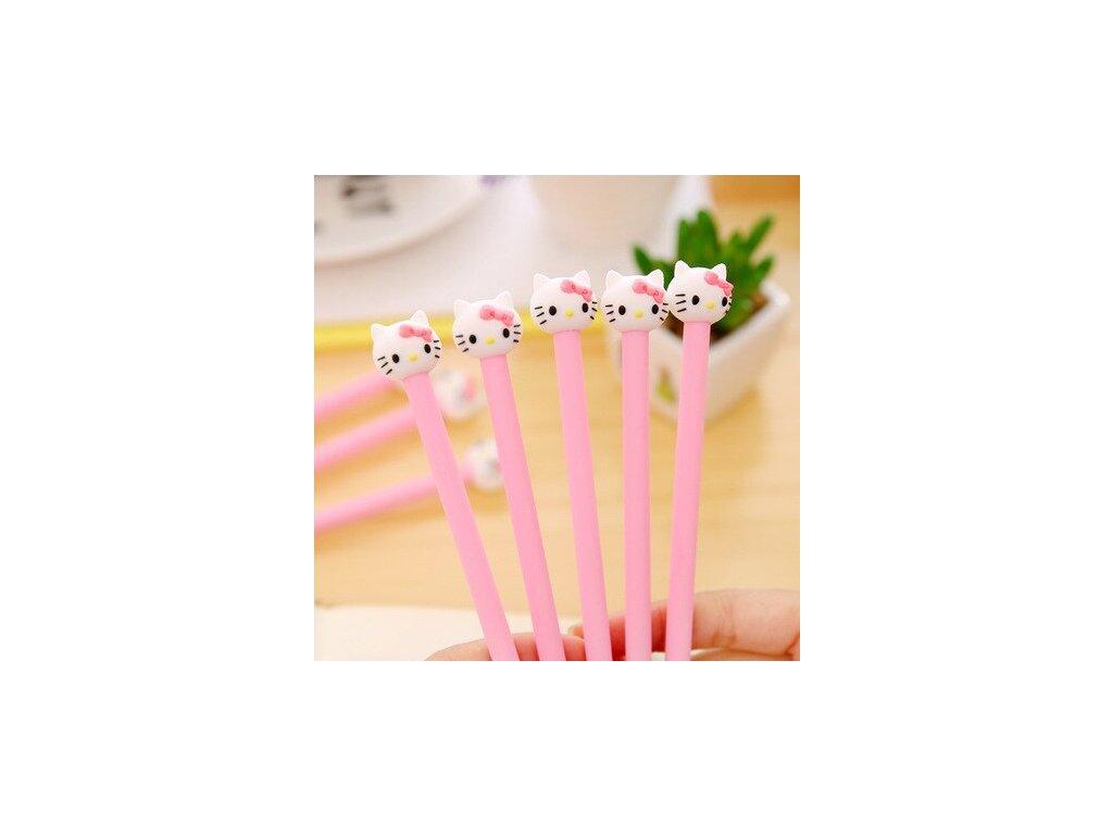 propiska gelové pero hello kitty kočka kotě