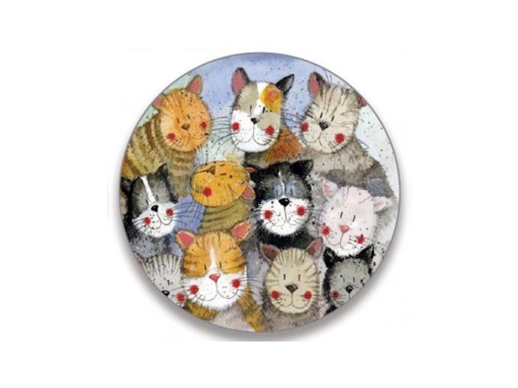 klíčenka kočky kočičí s kočkami s kočkou přívěsek Alex Clark