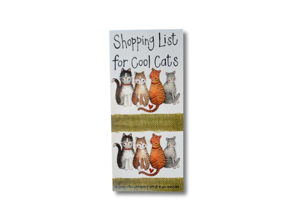 poznámkový blok nákupní seznam kočka kočičí s kočkou Alex Clark 2
