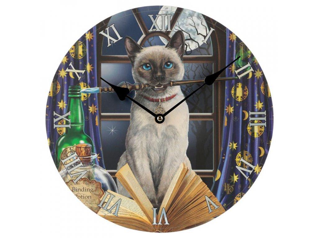 hodiny kočka s kočkou kočičí kouzelné Lisa Parker