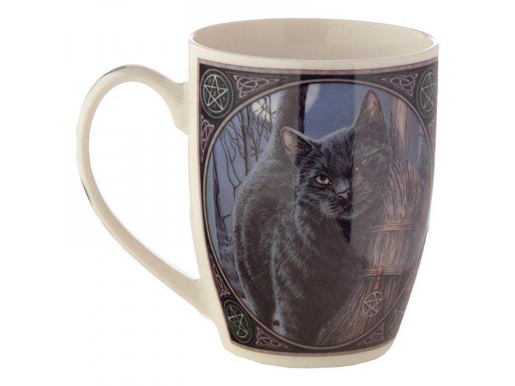 hrnek kočka s kočkou kočičí černý porcelán Lisa Parker 3