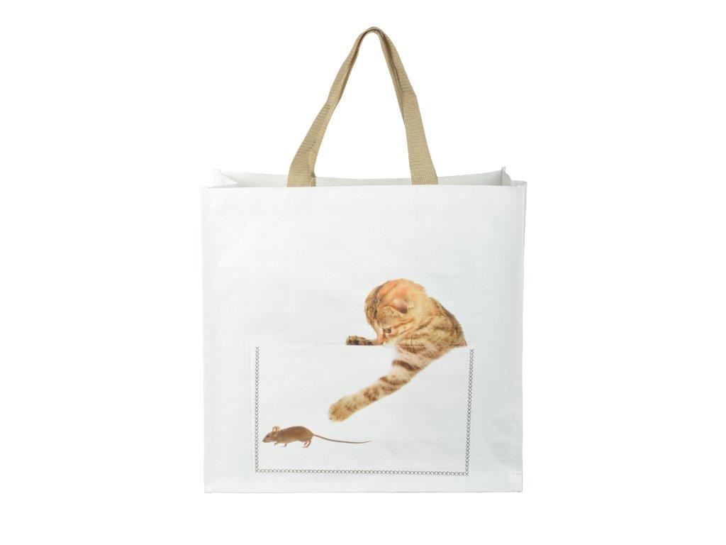 nákupní taška kotě a myš s kočkou kočičí
