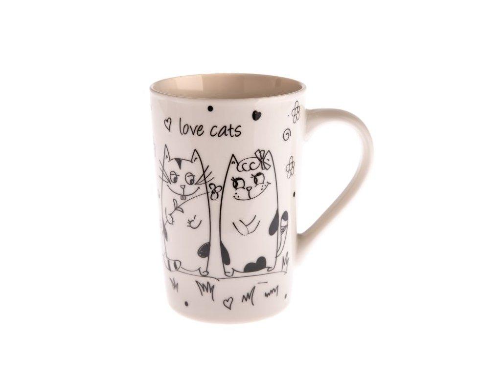 hrnek šálek kočka s kočkou kočky