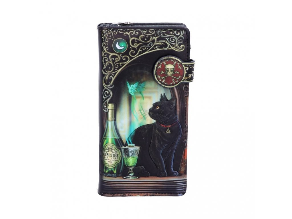 peněženka kočka a absint s kočkou kočičí lisa parker