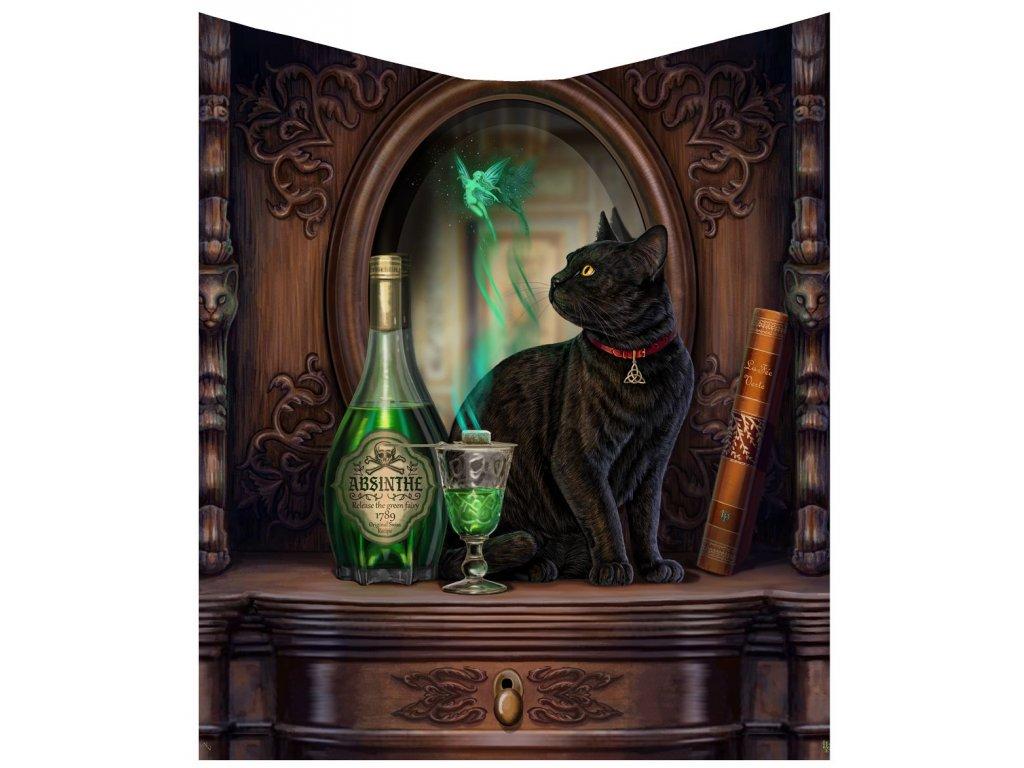 tapiserie kočka s kočkou černá absint kočičí lisa parker