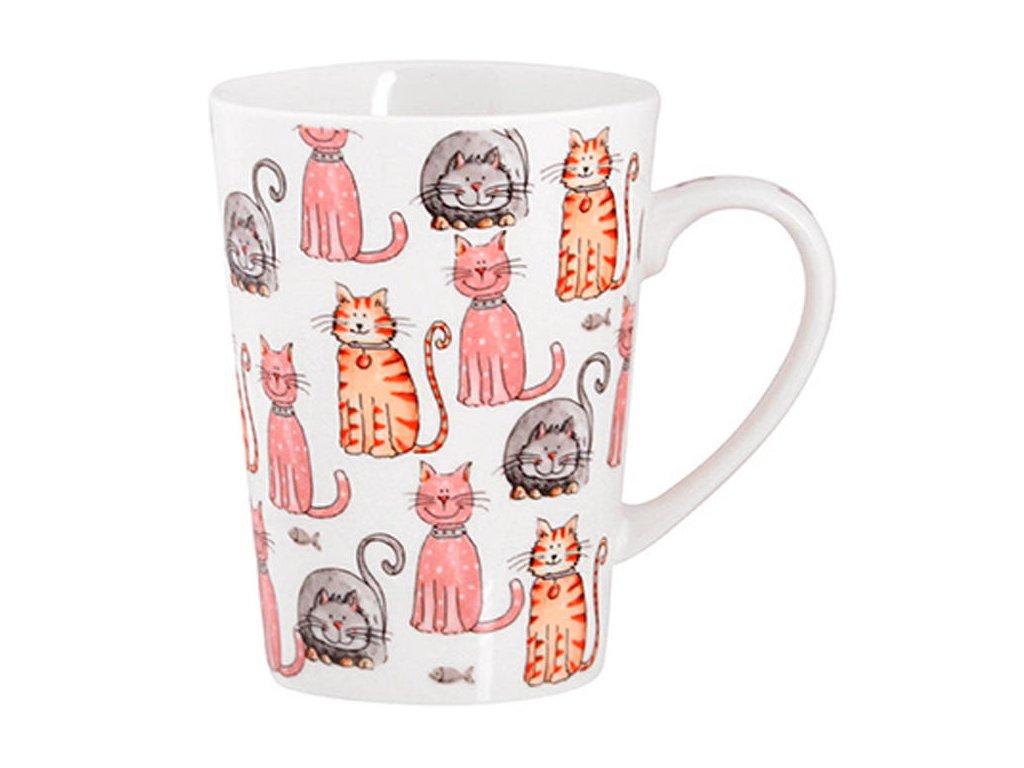 hrnek kočka s kočkou kočičí kreslený 2