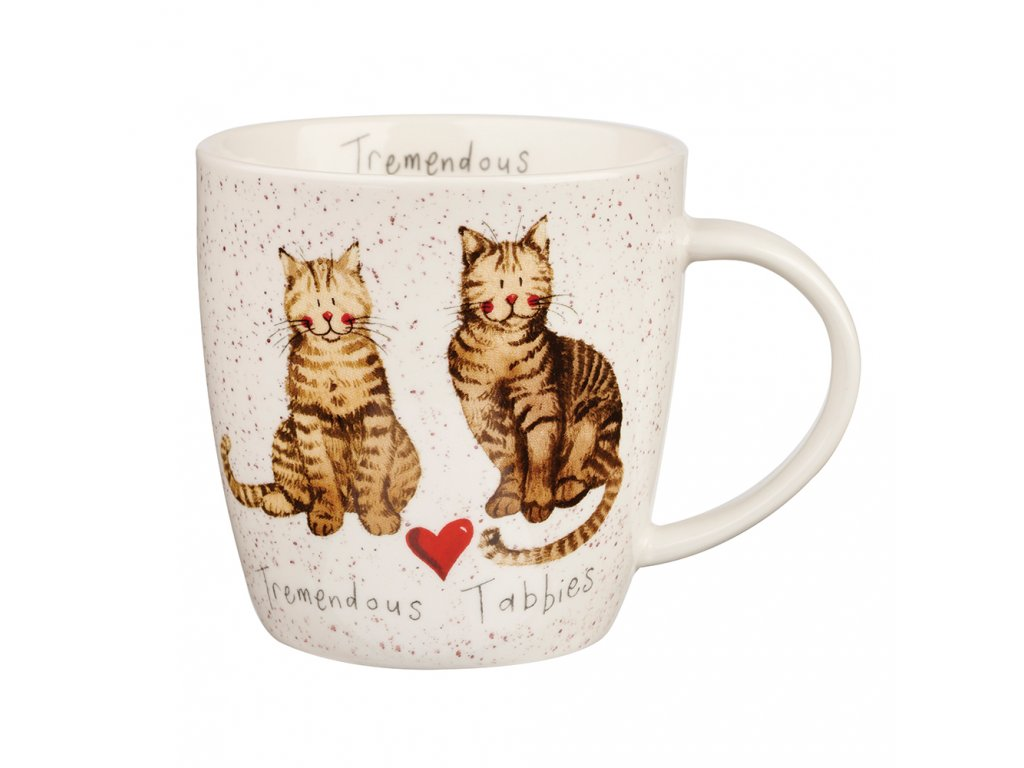 hrnek kočka mourovatá s kočkou kočičí alex clark