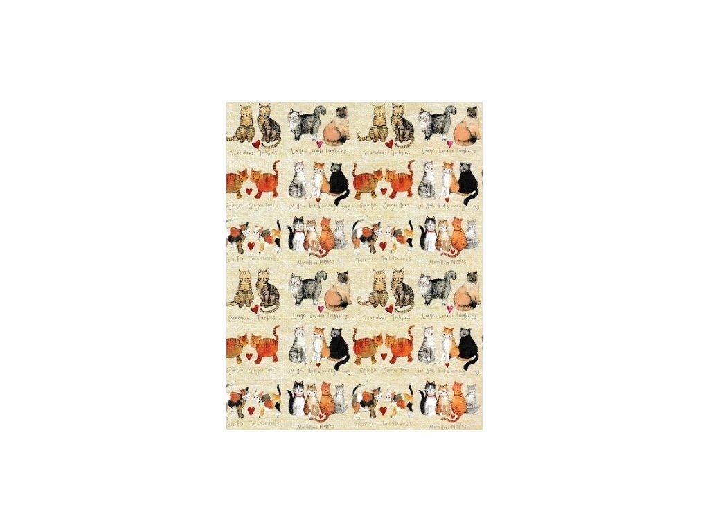 balící papír kočka s kočkou kočičí alex clark hodně koček