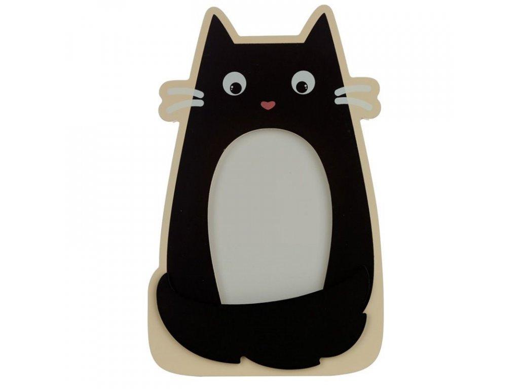 rámeček na fotku fotorámeček kočka s kočkou kočičí dřevěný 2