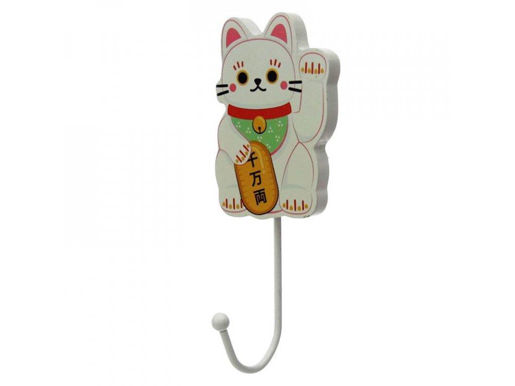háček kočka s kočkou kočičí lucky cat maneki neko