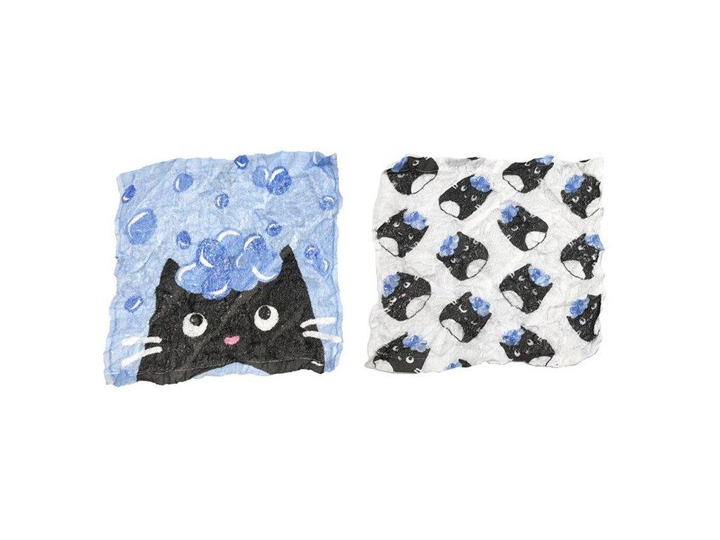 ručník cestovní stlačený kočka s kočkou kočičí 3