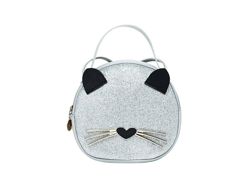 kabelka kočka s kočkou kočičí mačka s mačkou mačacie strieborná stříbrná