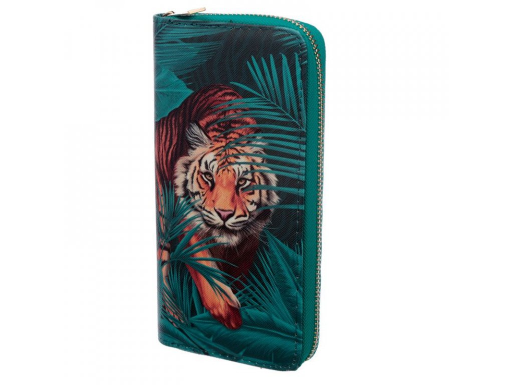 peněženka velký kočka mačka s kočkou mačkou tygr šelma tigr
