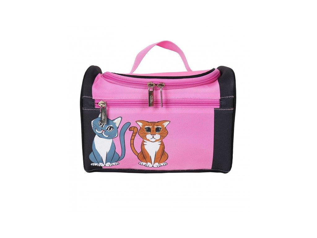 kosmětický kufřík s kočkou kočka kočičí