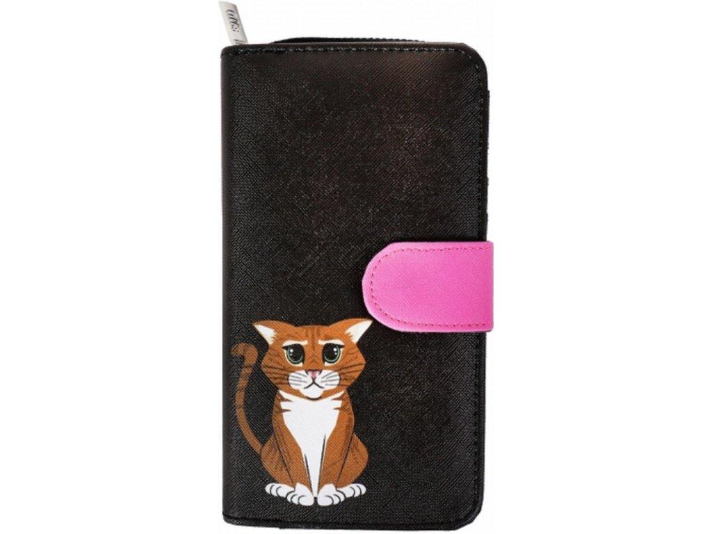 peněženka s kreslenou kočkou kočka kočičí kocour velká