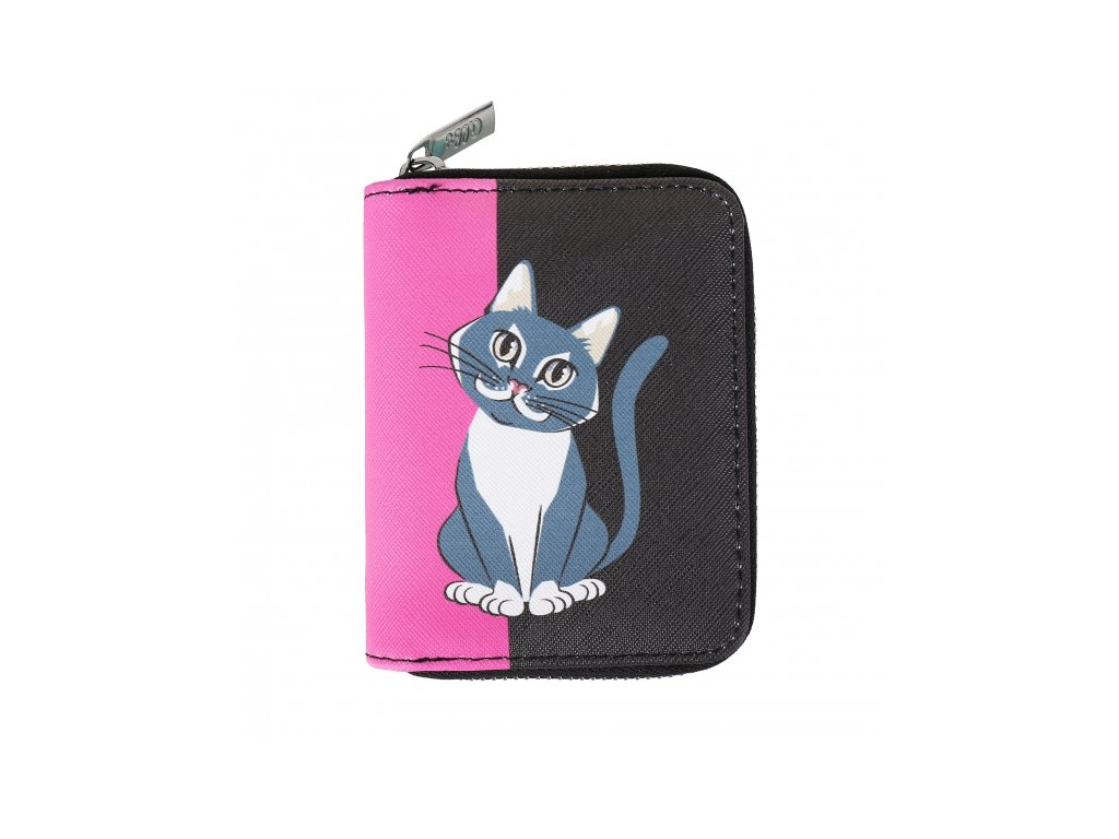 peněženka kočka s kočkou kočičí kocour na zip