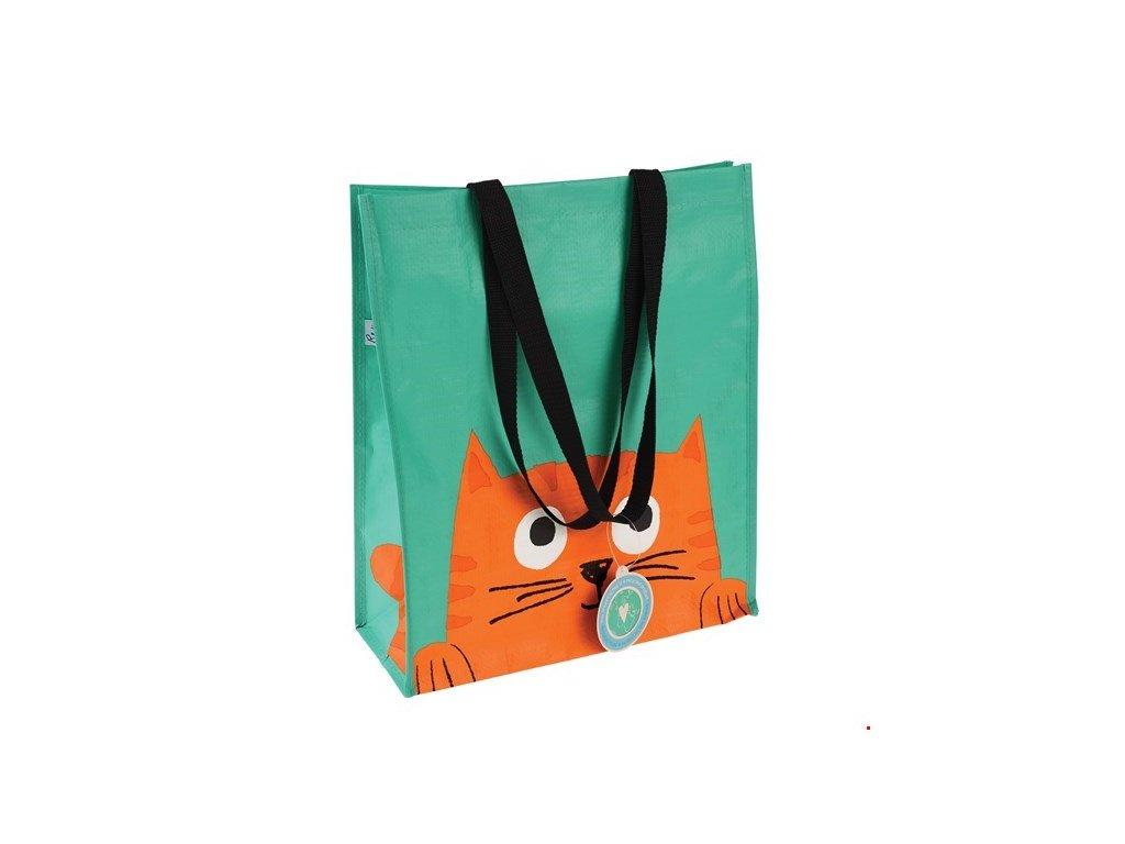 chester nákupní taška s kočkou kočka kočičí ekologická