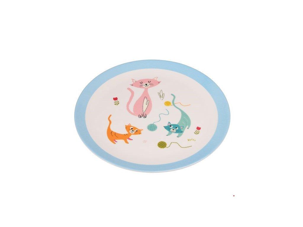 melaminový talíř s kočkou kočka kočičí