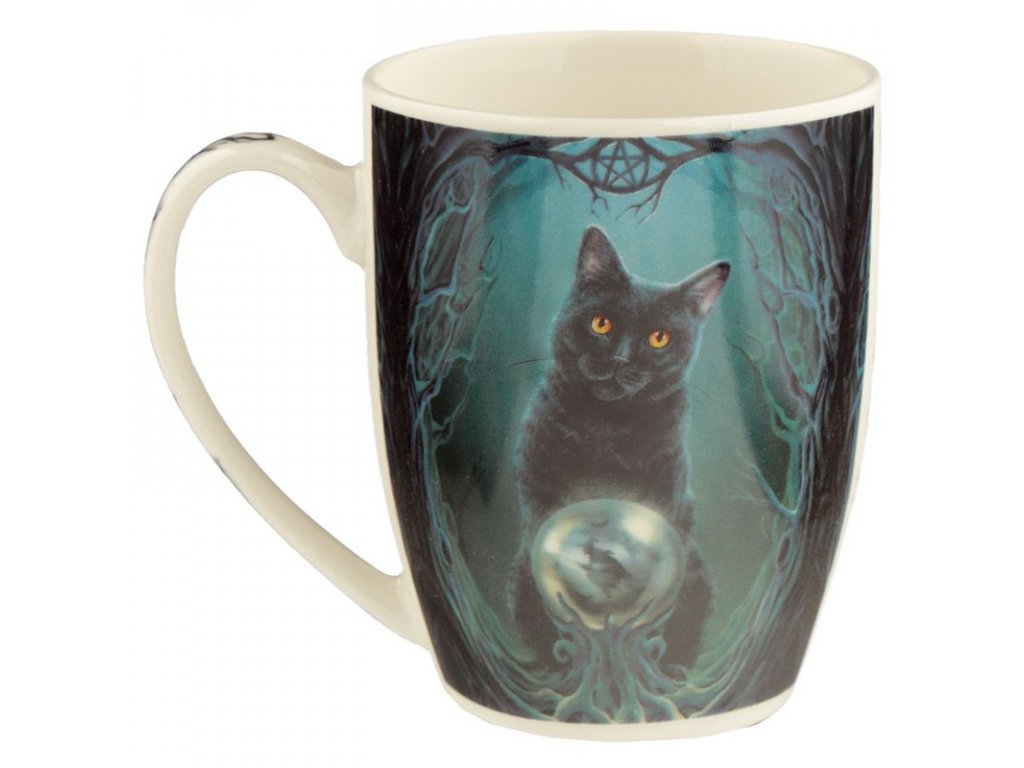 porcelánový hrnek lisa parker kočka s kočkou kočičí