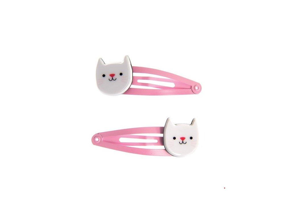 cookie sponka do vlasů kočka s kočkou kočičí