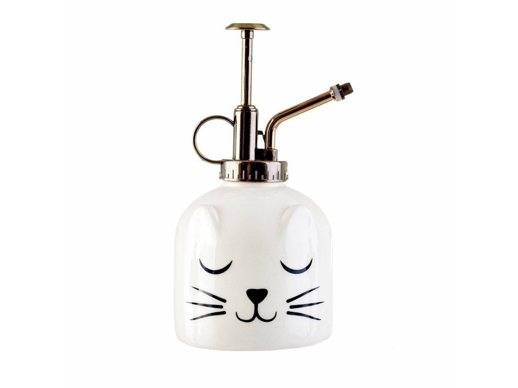 ostřikovač na kytky kočka s kočkou kočičí sprej mlha