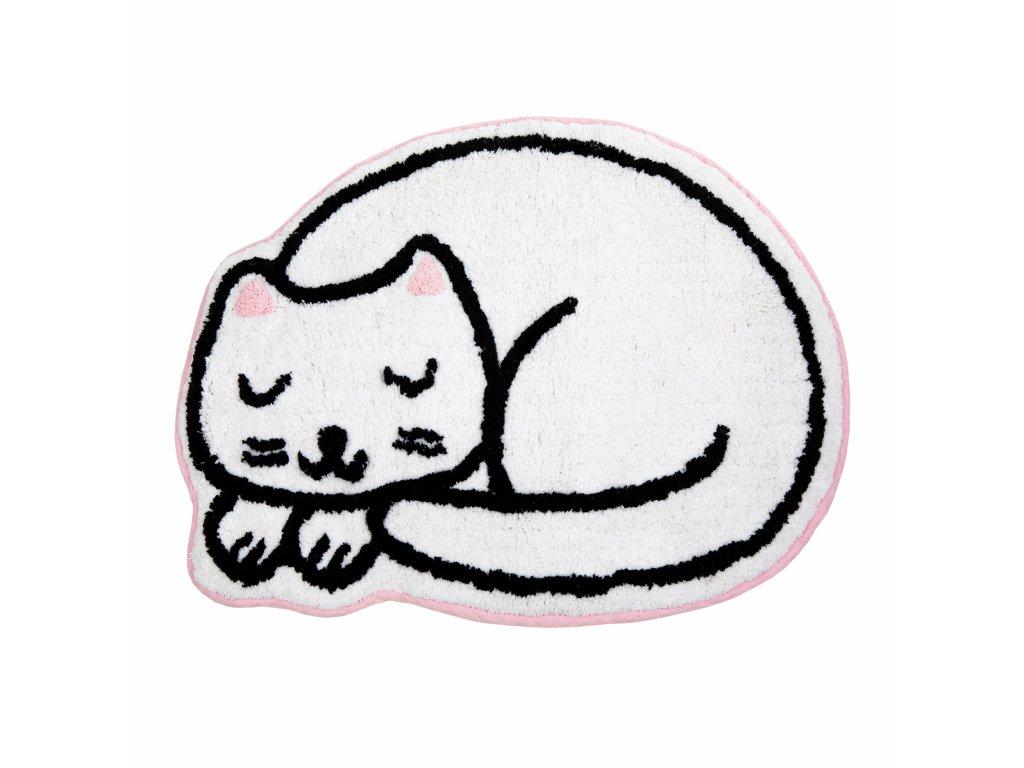 kobereček předložka s bílou kočkou kočka kočičí