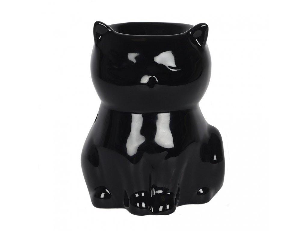 aromalampa černá kočka s kočkou kočičí