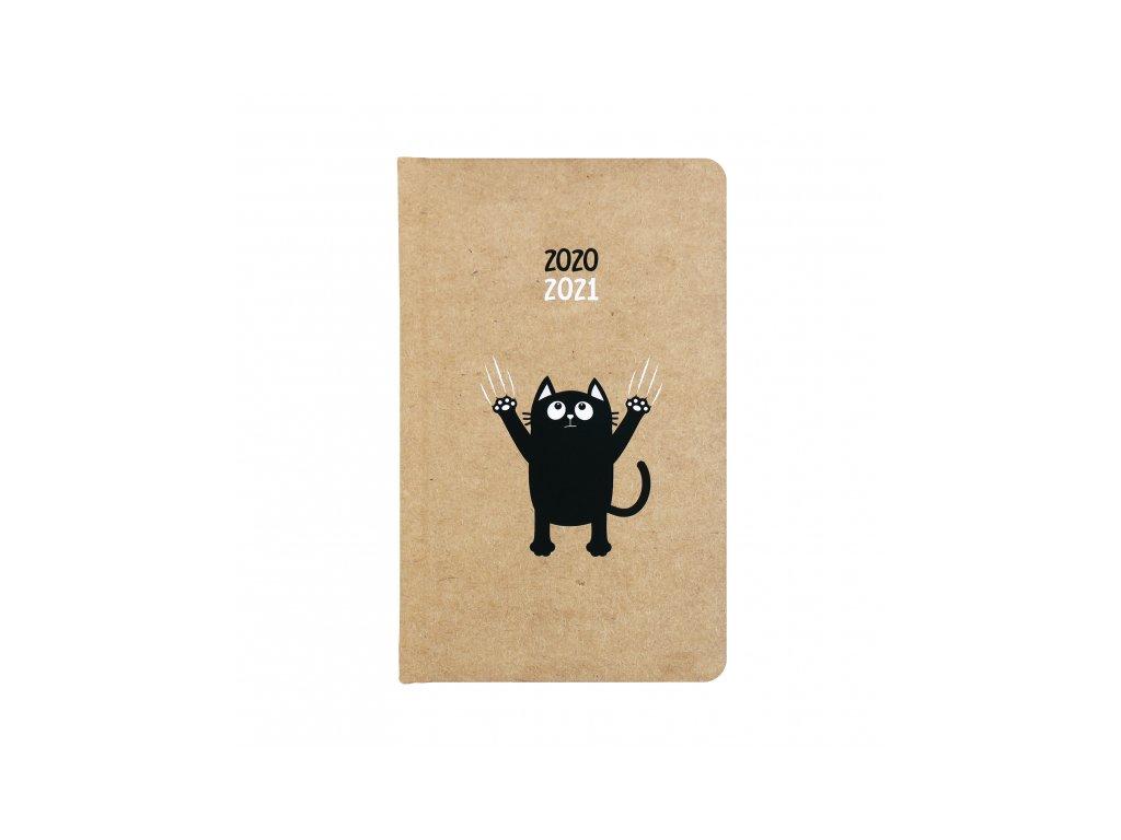 studentský žákovský diář notes blok kočka s kočkou kočičí 2020 2021