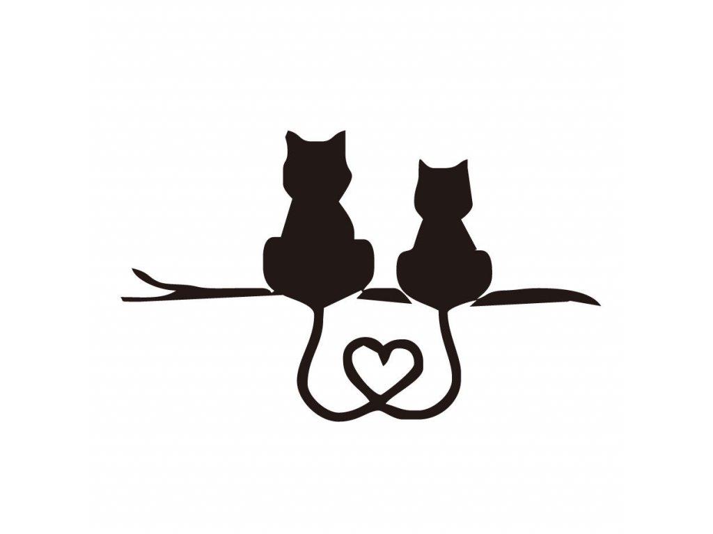 Samolepka na auto dvě kočky
