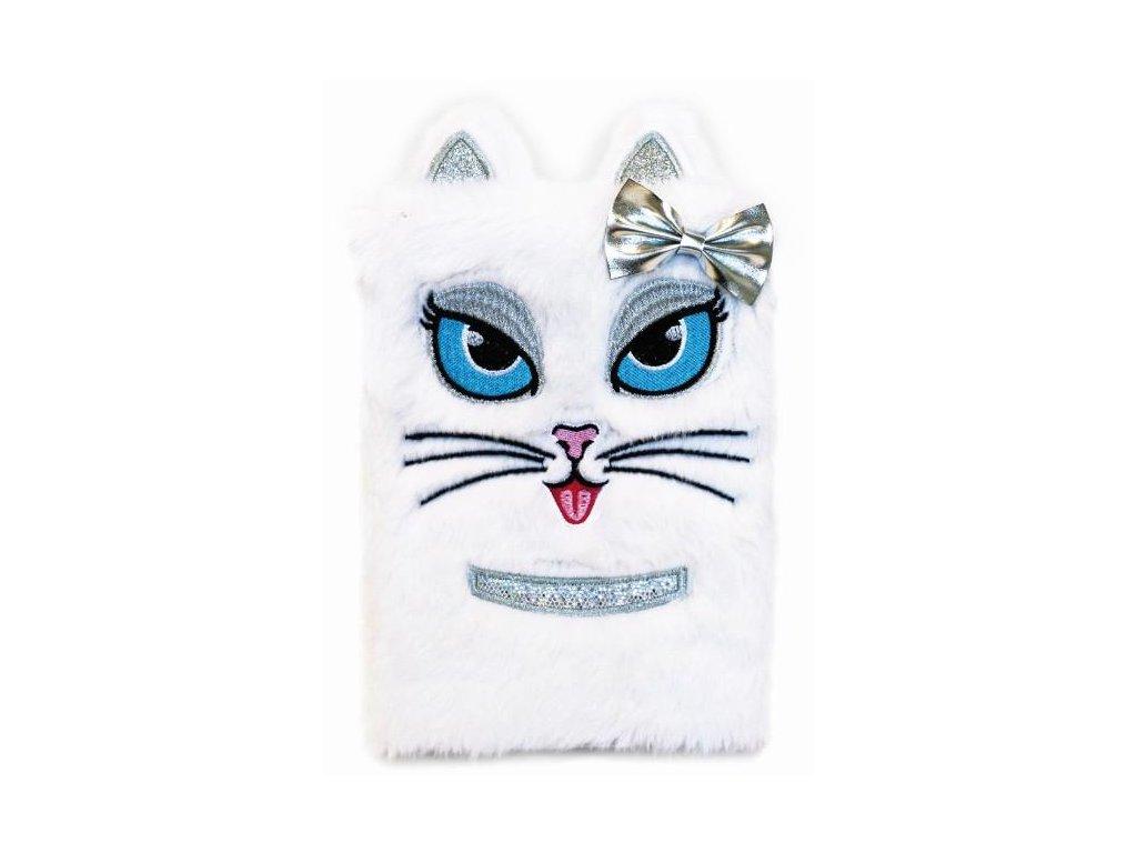 plyšový deník kočka s kočkou kočičí