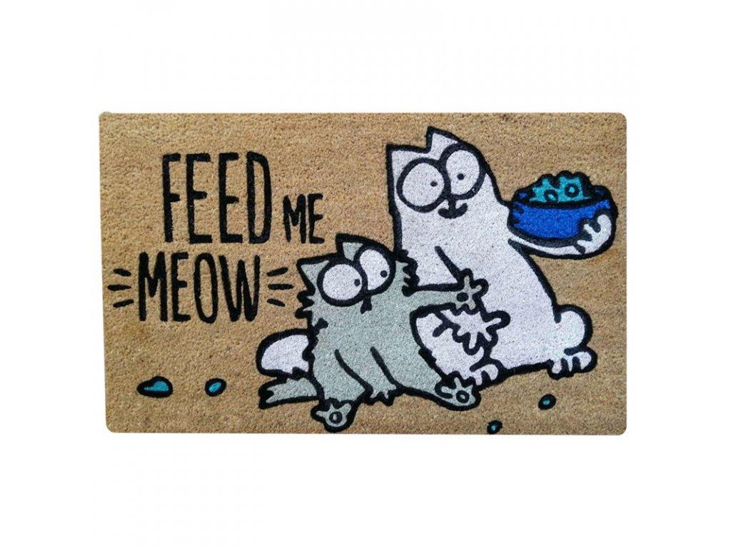 rohožka kočka s kočkou kočičí simons cat