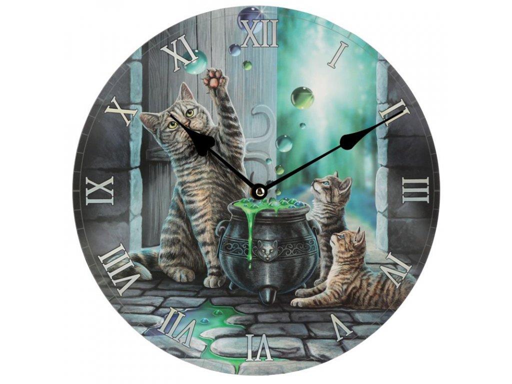 hodiny lisa parker kočka s kočkou kočičí bubliny