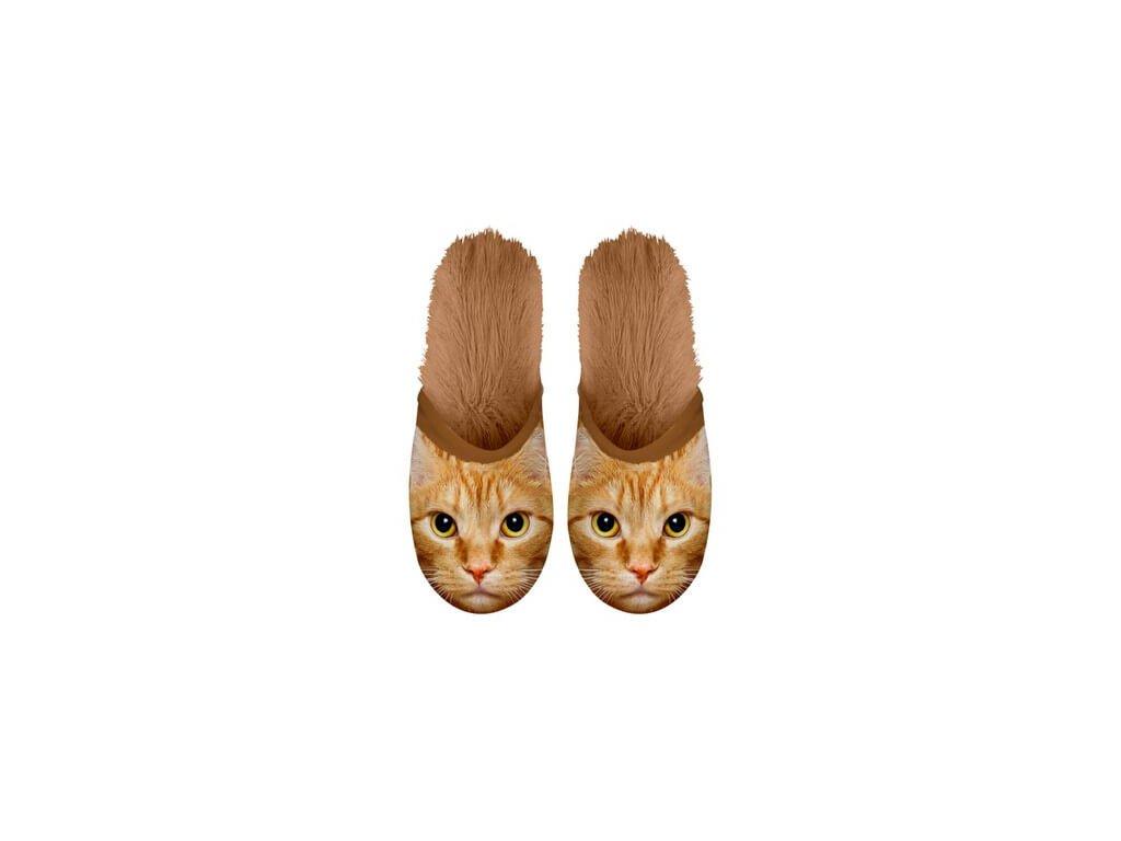 pantofle boty kočka s kočkou kočičí zrzavé 2