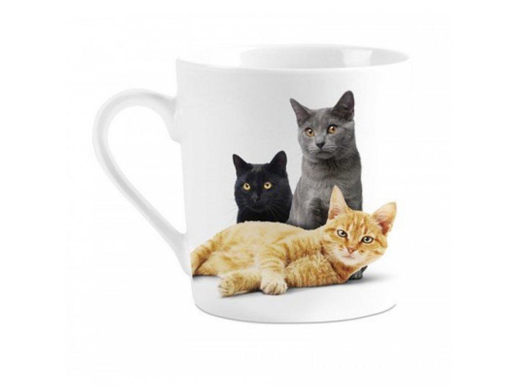 hrnek porcelán kočka s kočkou kočičí tři kočky
